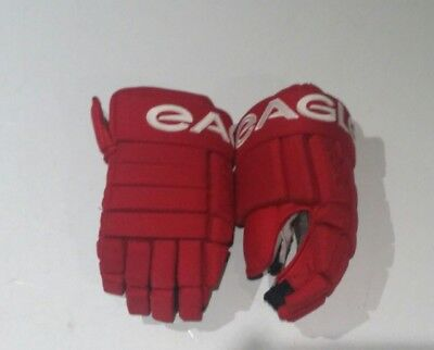 """Pro Stock Eagle hockey gloves 14"""" Red Wings"""