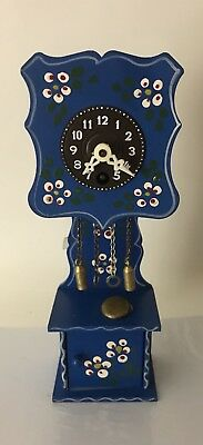 """Vintage Small Grandfather Clock West Germany?7 1/2"""" Tall """"As is"""""""