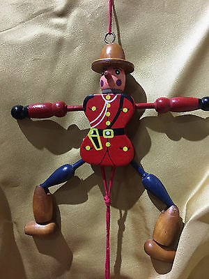 Mountie Pull String Puppet