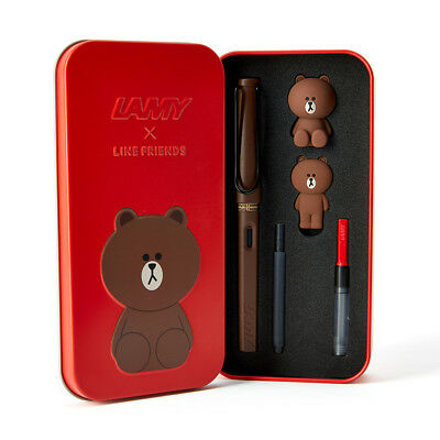 """Limited Edition"" LAMY x LINE FRIENDS Fountain Pen BROWN in the RED -Tracking-"