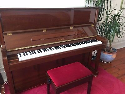 Feurich Polished Walnut Acoustic Upright Piano