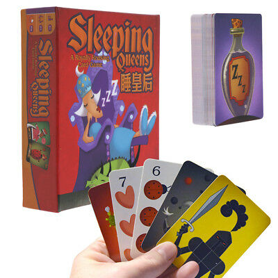 Sleeping Queens Card Game Board Games Kids Educational Toy Family Friends Party