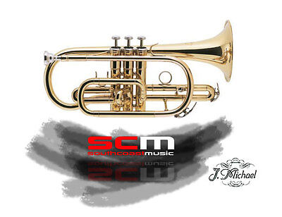 BRAND NEW J MICHAEL CT420 CORNET w CASE GOLD LACQUER FINISH FREE P+H
