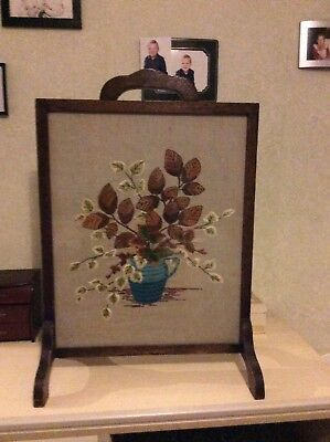 Old fashioned fire screen