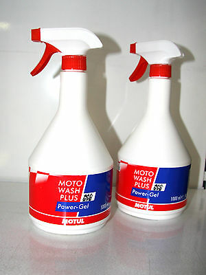 2x Motor Bike Pure Motul Moto Wash Plus Power Gel 1 L Cleanser