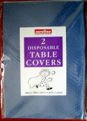 2 new dark blue paper disposable table cloths party  tablecloths BIRTHDAY