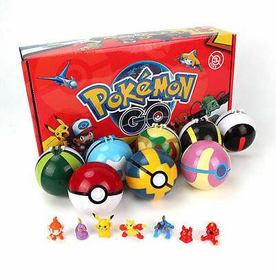 8Pcs Pokemon Balls 8pcs Figure Random Cosplay Pop-up BALL 7cm Cartoon Kids Toy e