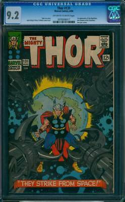 Thor # 131  They Strike From Space !  CGC 9.2 scarce book !