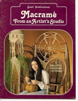 Macrame from an Artists Studio, 1978 - 8 patterns - wall hanging, snow sculpture