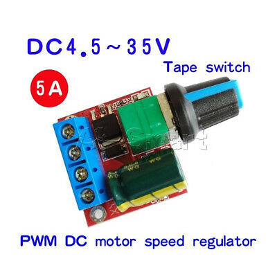DC 5V 6V 9V 12V 24V 5A PWM DC Motor Speed Controller Regulator Switch LED Dimmer