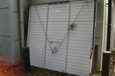 GARAGE DOOR HORIZON UP AND OVER WHITE WITH KIT     2134mm X 1981mm