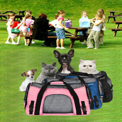 Pet Carrier Cat Dog Portable Travel Carry Tote Cage Shoulder Bag Backpack UK