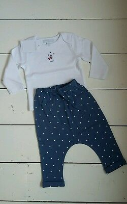 snowman pyjamas from the little white company -3-6 months