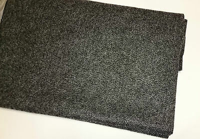 (7,10 €/ m ²) Felt BOXING Mat Upholstery Cloth Cover Material 150X75CM Grey 2423