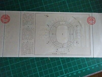 1960 OLYMPIC GAMES Rome Unused Original Ticket For Weight Lifting Mint Condition