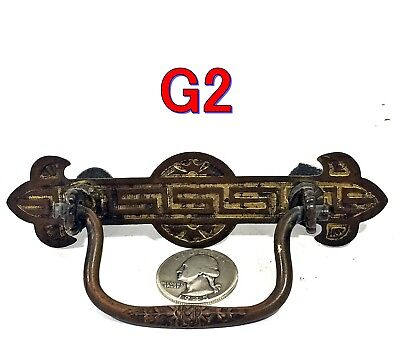 "Antique Brass Eastlake Victorian Dresser Drawer PULL 2.5"" OCB furniture *G2*"