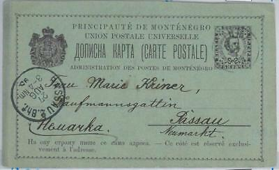 65987 MONTENEGRO  - POSTAL STATIONERY CARD  1895 - P12a