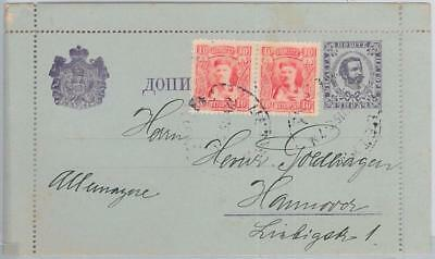 65996 MONTENEGRO  - POSTAL STATIONERY LETTER CARD to GERMANY - K4