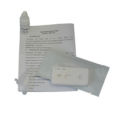 Dog Canine Leishmaniasis LSH Leishmania Blood Pet Vet Diagnosis Test Kits