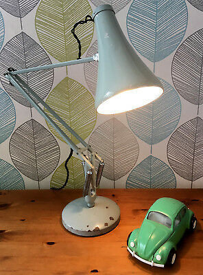 Vintage HERBERT TERRY Anglepoise Model 75 Industrial Table Desk Lamp Light 60s
