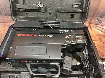 VHS Camcorder, Memorex SM-1000 in Case, 2 Batteries and Charger