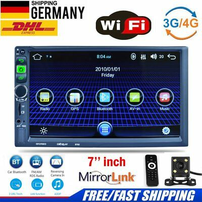 """7"""" Android Car Autoradio 4-Core 2 Din 1G/16G 1080P Stereo GPS MP5 Player 3G Wifi"""