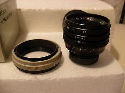 Vintage Aubell 35Mm F:2.8 Wide Angle Lens