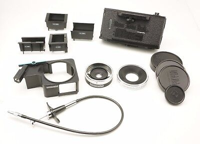 Lomography Used Diana Accessories Bundle 55mm Lens 35mm Film Back Release Cable