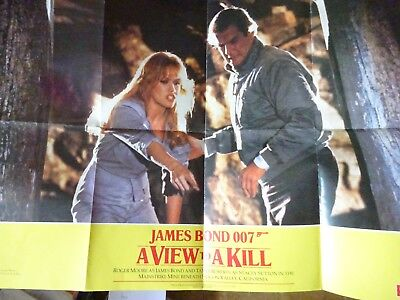 "JAMES BOND 007 A View To A Kill Smiths Crisps Original 32""x23"" Poster"