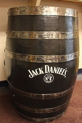 Genuine Jack Daniels Old No 7 Black Whiskey Barrel 55 Gal Pickup Only