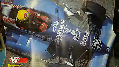 Poster GIAMBATTISTA BUSI 1991 F3 su Dallara 391 cm 80x54 Supplemento Autosprint