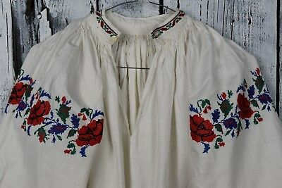 Antique traditional Ukrainian embroidered shirt / Handmade embroidered shirt