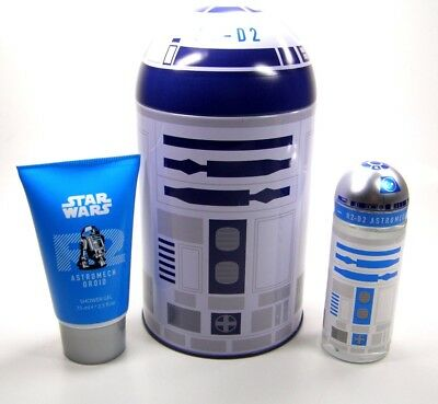 Disney Star Wars Set in R2D2 Droid Blechdose Edt Spray 50 ml Duschgel 75 ml