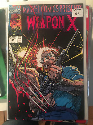 MARVEL COMICS PRESENTS 81 VF/NM 1st Print Weapon X Wolverine Barry Windsor Smith