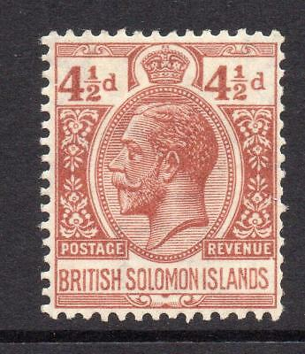Solomon Islands 4 1/2d Stamp c1922-31 Mounted Mint