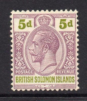 Solomon Islands 5d Stamp c1922-31 Mounted Mint