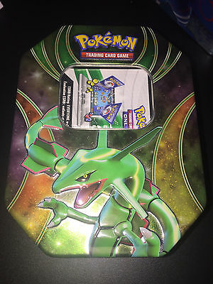 MINT Rayquaza Powers Beyond Tin (empty) & Online Code - Pokemon Trading Card