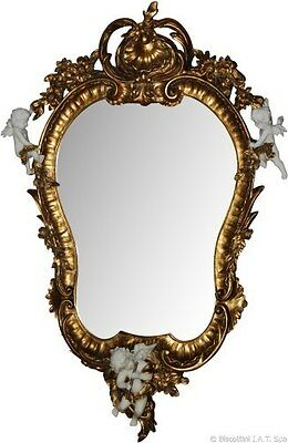 Mirror Classic Wall With Angels Putti For Console Dresser Dresser'