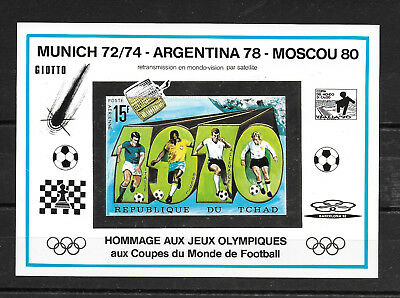 Chad,1992,OlympicGames,WorldCup,football,imperf.cartboard,MNH,not listed