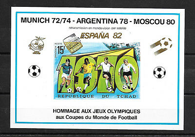 Chad,1982,OlympicGames,WorldCup Football,imperf.cardboard,not listed,MNH