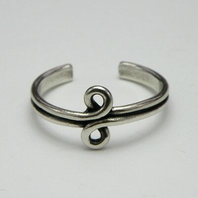 Solid 925 Sterling Silver Toe Ring Curls Design, Ladies New with Gift Bag