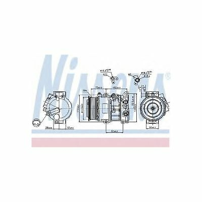 Fits Toyota Auris 2.0 D-4D Genuine Nissens A/C Air Con Compressor