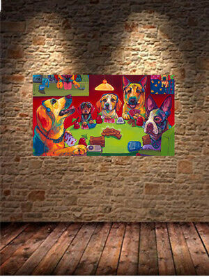 Dogs Playing Poker Oil Painting HD Print On Canvas Wall Art 18 No Frame H770