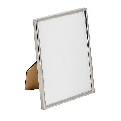 Nicola Spring Silver Metal 5x7 Photo Picture Frame - Standing