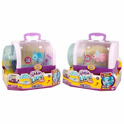 New Little Live Pets Lil' Mouse House w/ Jungle Wonder Or Cuppi-Swirl Official
