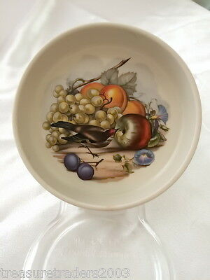 ♡ Johnson Bros England Bird Eating Fruit Apple Grapes Plum Trinket Pin Dish