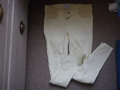 ASOS maternity pastel yellow jeans size 8