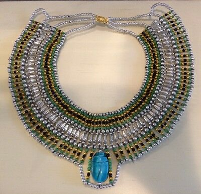 Ancient Egyptian Queen Cleopatra Beaded Collar Necklace Halloween Costume