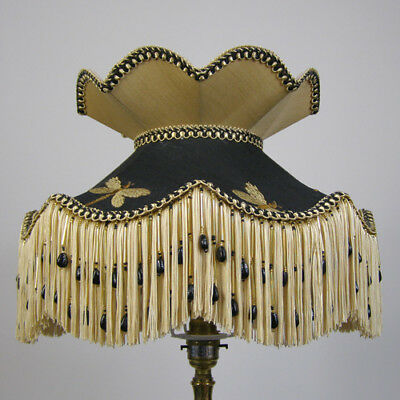 Victorian Vintage  Beaded Table Lampshade