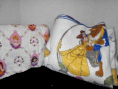 Beauty and The Beast Plush Twin Blanket plus 1 Belle Twin Sheet & 2 Pillowcases